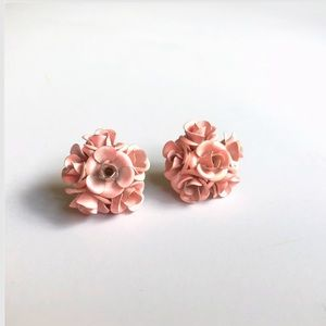 Jewelry - Pink Roses Earrings